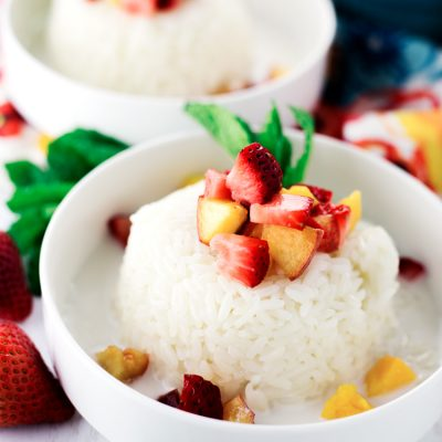 Cinnamon Sweet Rice with Fresh Fruit
