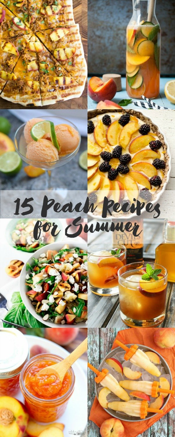 You MUST try these amazing 15 Peach Recipes for Summer! Put that flavorful fruit to good use! | asimplepantry.com