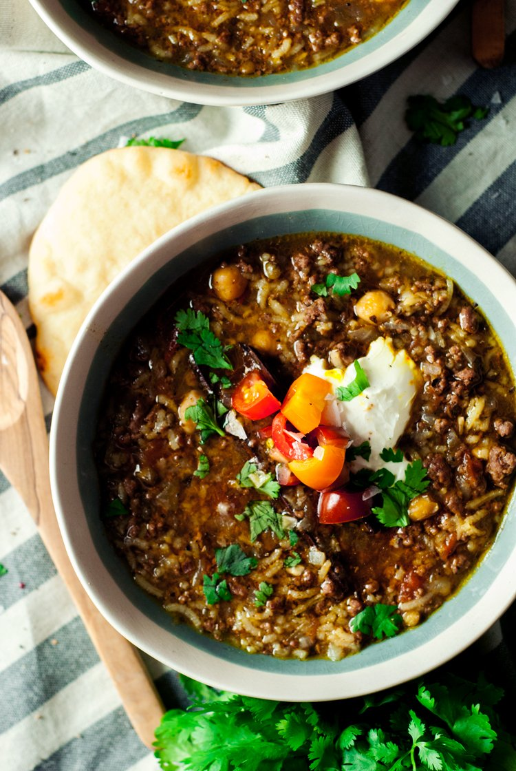 This easy Moroccan Harira is weeknight ready with its simple ingredients and one pot cooking. Go international and enjoy dinner tonight!   asimplepantry.com