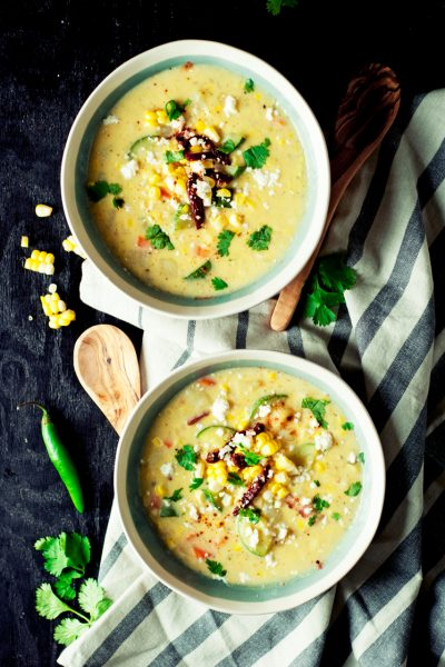 Mexican Style Easy Corn Chowder