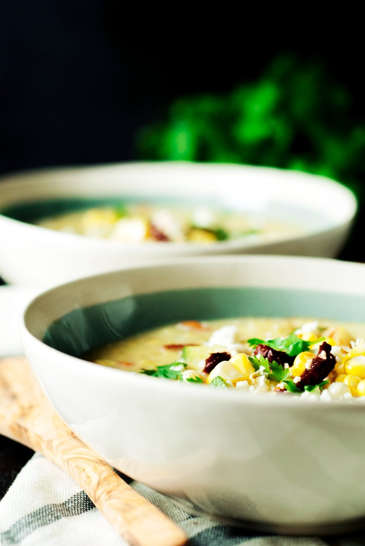 This one pot wonder soup is easily the best Mexican Style Easy Corn Chowder you will ever try! Put that fresh corn on the cob to good use in this dish! | asimplepantry.com