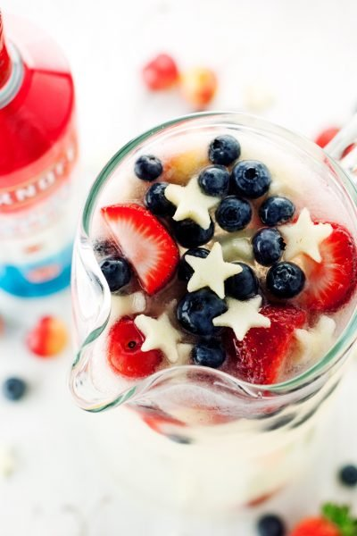 Patriotic Vodka Lemonade Spritzer
