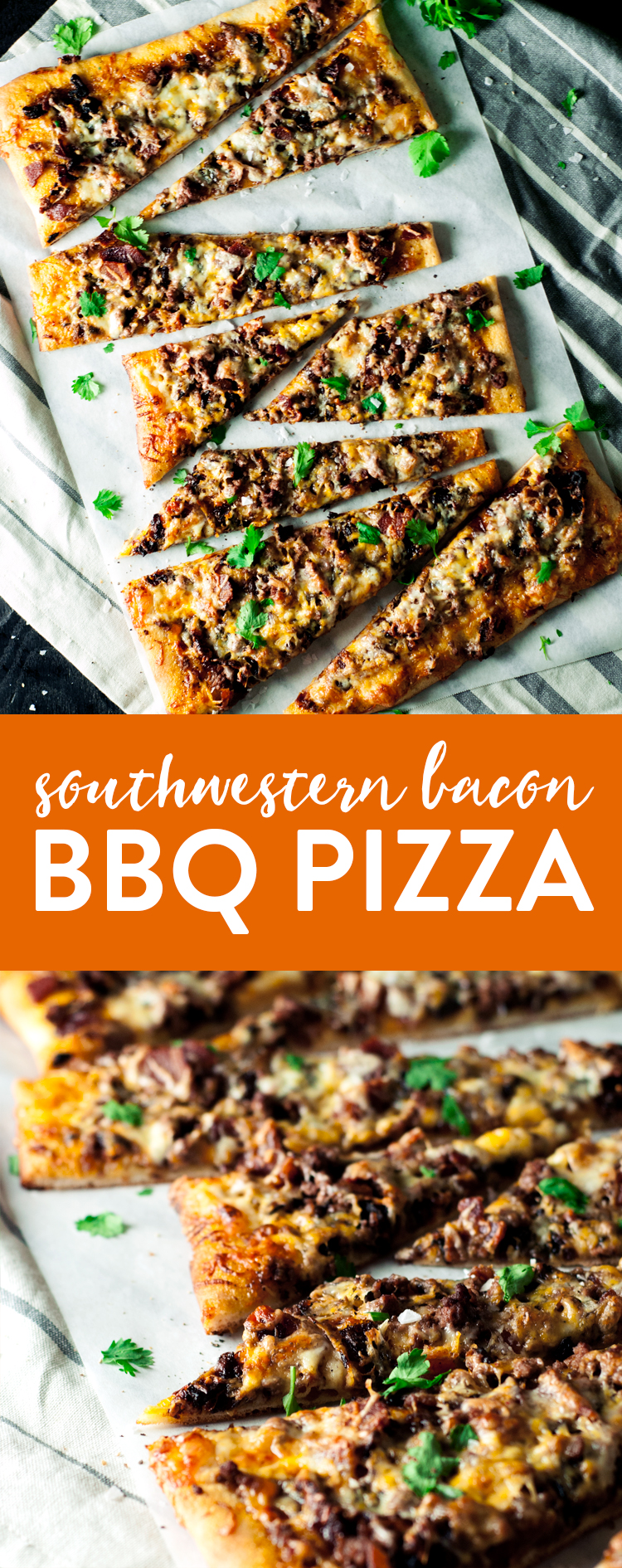 You will be hard-pressed to find anything better than this Southwestern Bacon BBQ Pizza! Maybe it's those deliciously caramelized onions that bring it all together! | asimplepantry.com