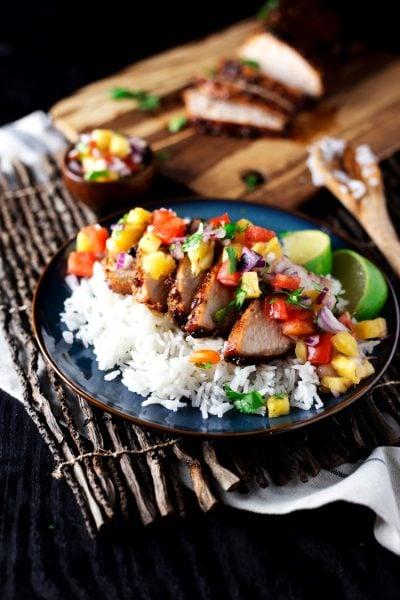 Teriyaki Pork with Pineapple Salsa