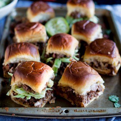 BBQ Bacon Cheeseburger Sliders