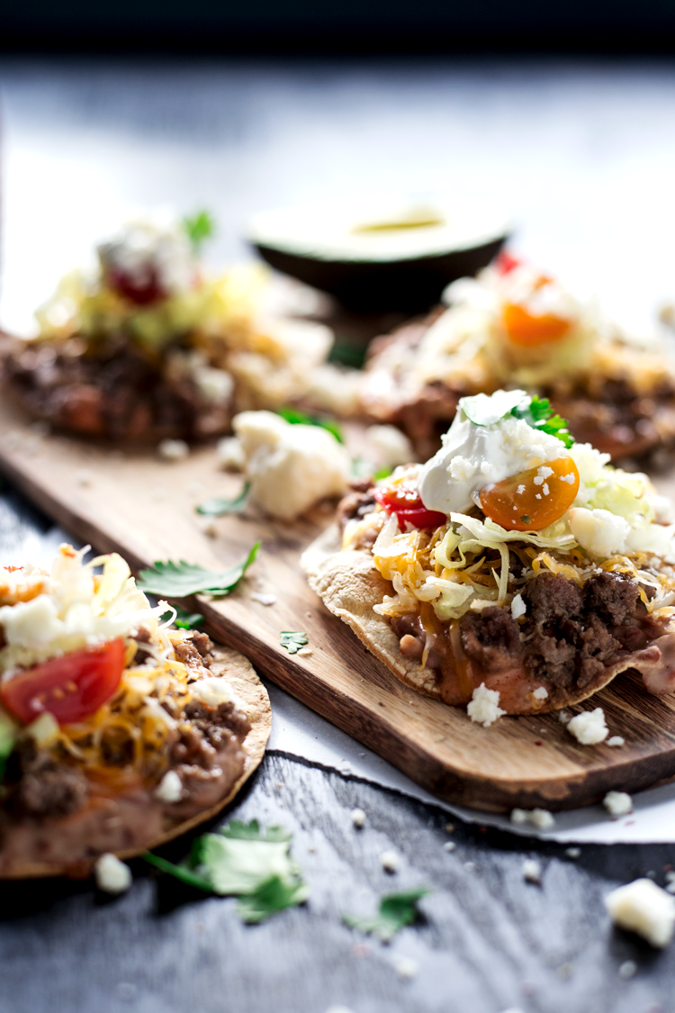Get dinner on the table in just 20 minutes with these super Easy Beefy Chalupas Compuestas! Weeknight meals have never been better! | asimplepantry.com