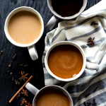 Bring on that cool fall weather with a hot and flavorful Pumpkin Spice Horchata Latte, featuring homemade horchata for an authentically delicious drink! | asimplepantry.com