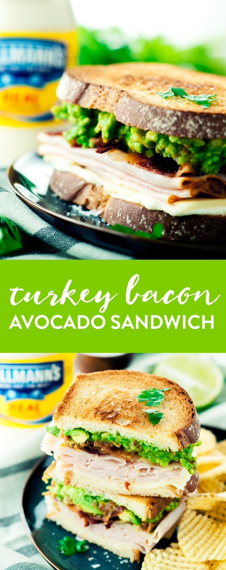 Get your lunch on with this amazingly delicious and simple Turkey Bacon Avocado Sandwich! Give it a fun twist with guacamole instead of traditional sliced avocado! | asimplepantry.com