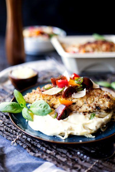 Creamy Asiago Chicken Pasta