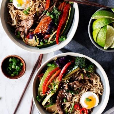 20 Minute Stir Fry Teriyaki Ramen Bowls