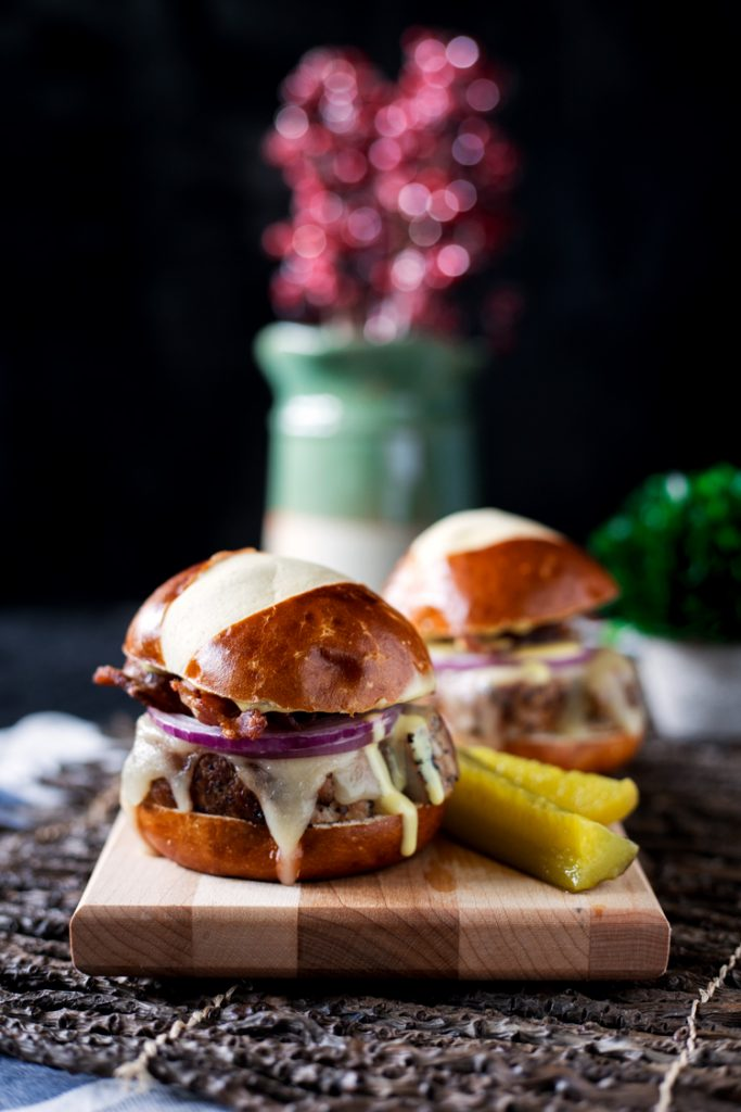 Peppered Pork Sliders with Honey Mustard Sauce