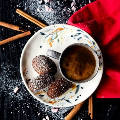 Chocolate Peppermint French Madeleines