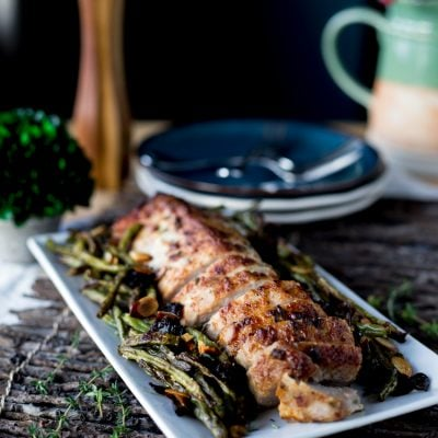 Herbed Mayonnaise Roasted Pork Loin