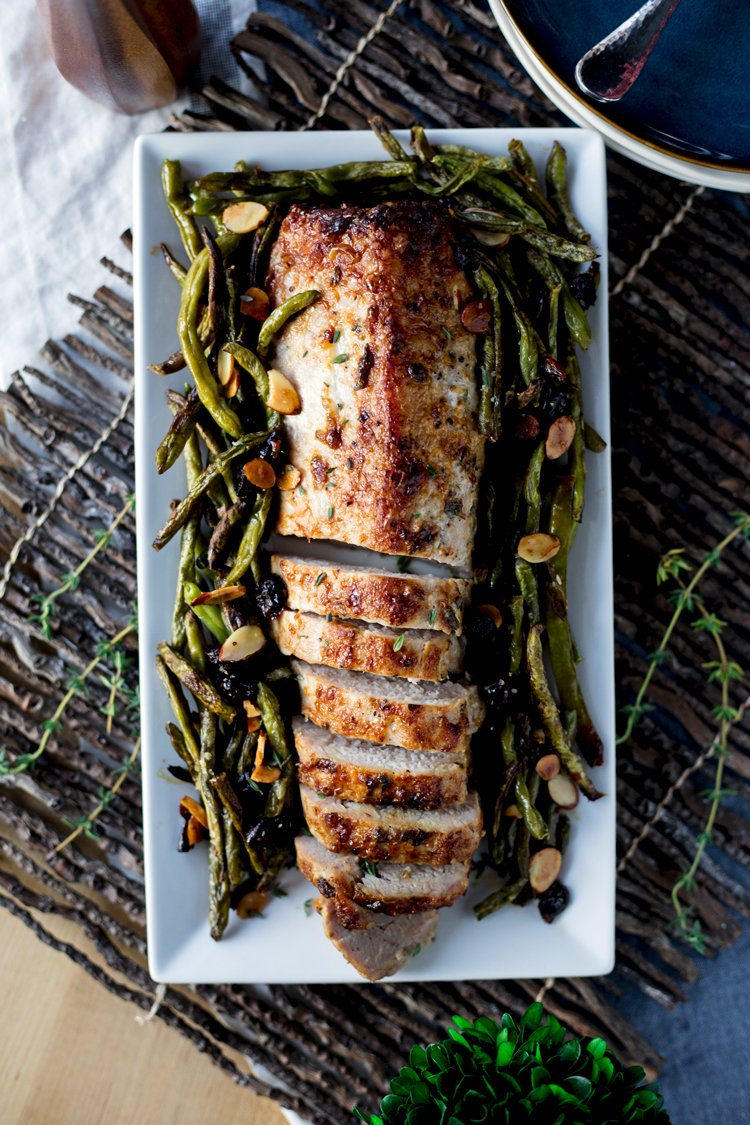 Your holiday dinner just got a lot more flavorful with this amazing, and FAST, Herbed Mayonnaise Roasted Pork Loin! Dinner is served in just 30 minutes, from a single pan!   asimplepantry.com