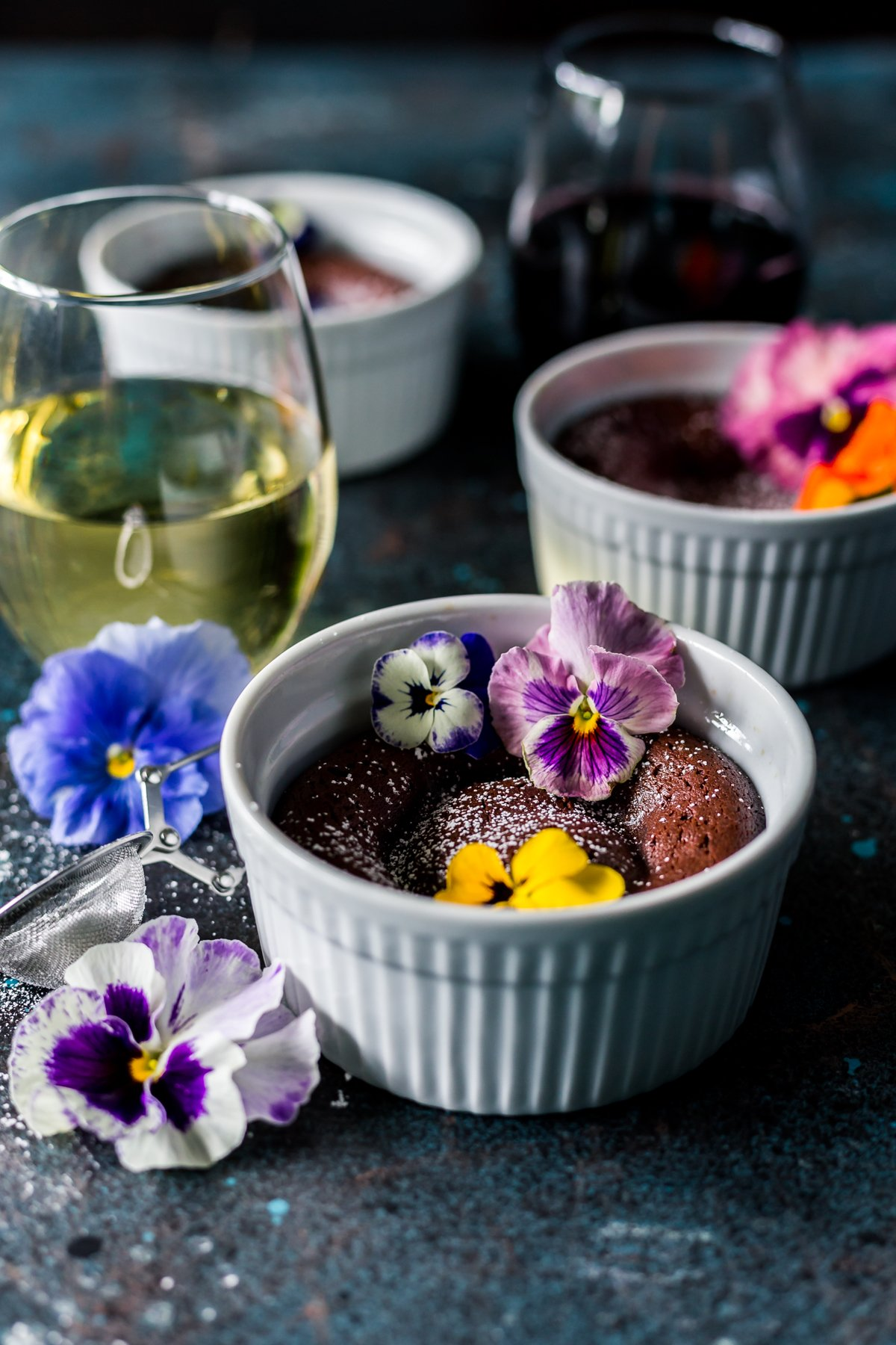 Break out of your routine with some easy recipes for dessert like these chocolate lava cakes! Perfect for sharing! | asimplepantry.com