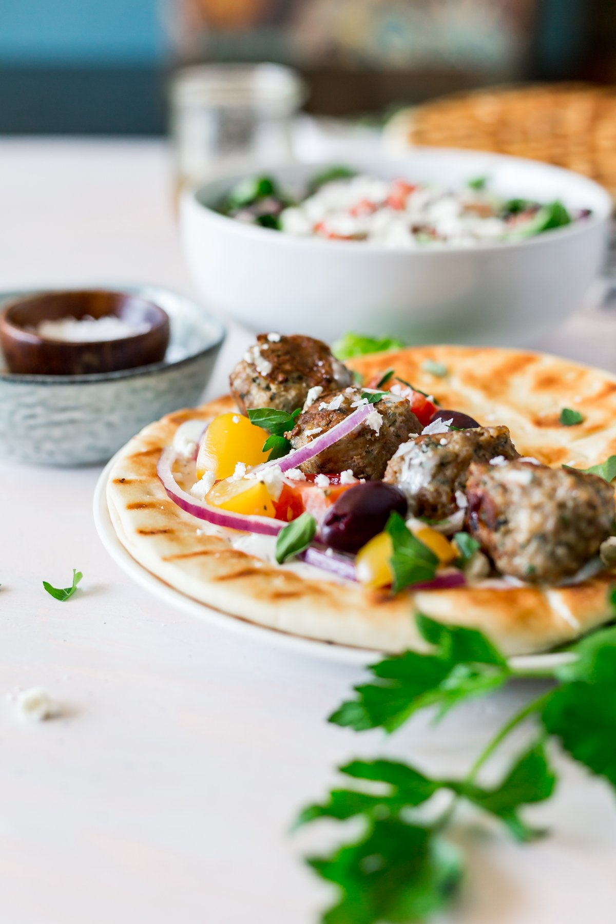 A win for easy recipes, these Greek Meatballs (Keftedes) are ready to eat in 30 minutes, making them a perfect weeknight dinner! | asimplepantry.com