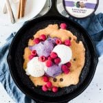 If you're looking for easy recipes for dessert, this Raspberry Ripple Skillet Brookie is a definite crowd-pleaser! Serve with your favorite ice cream and enjoy! | asimplepantry.com