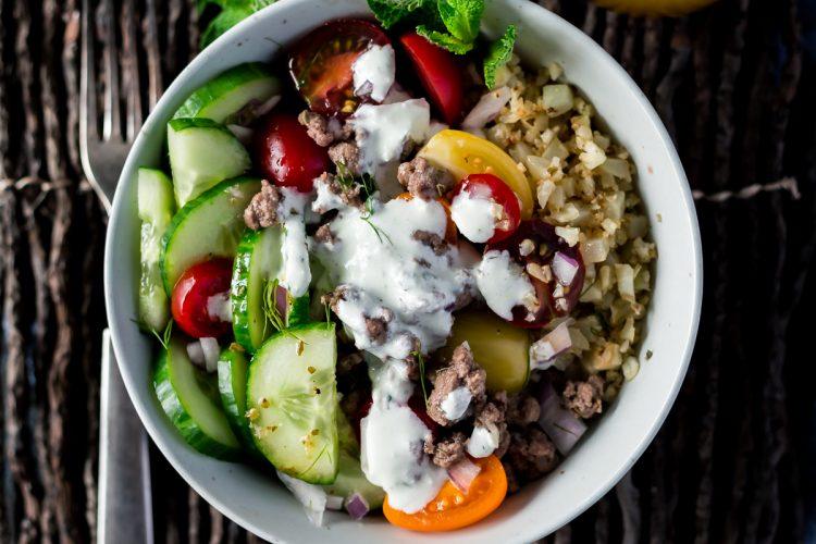 Gluten Free Greek Lamb Bowls