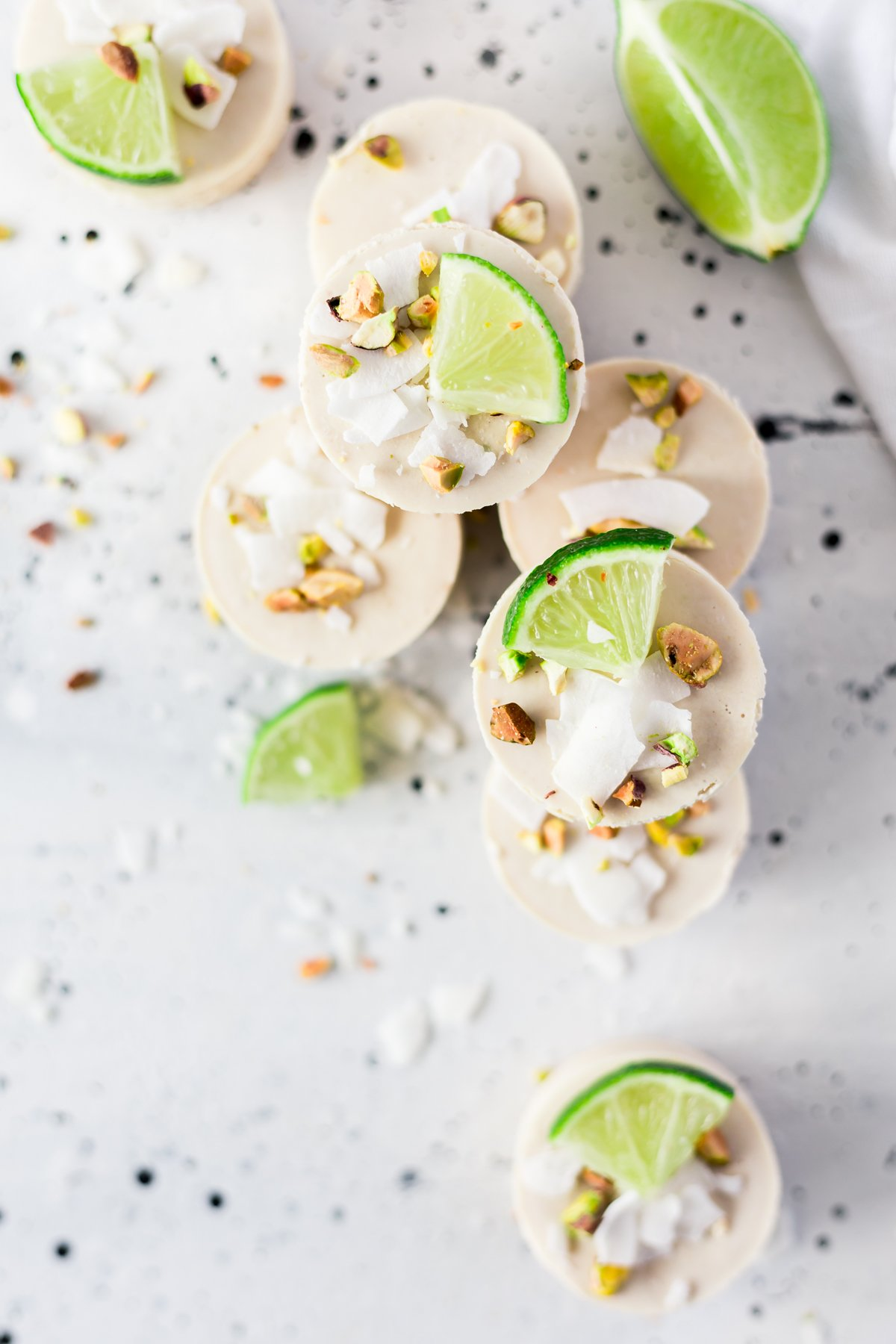 no bake mini key lime vegan cheesecakes