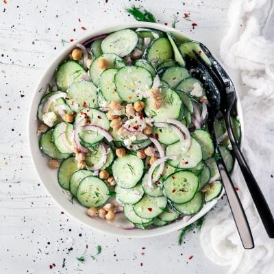Easy Midwestern Cucumber Salad