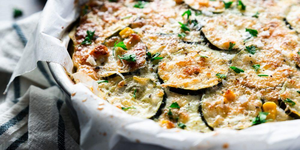 Gluten Free Corn and Zucchini Pie