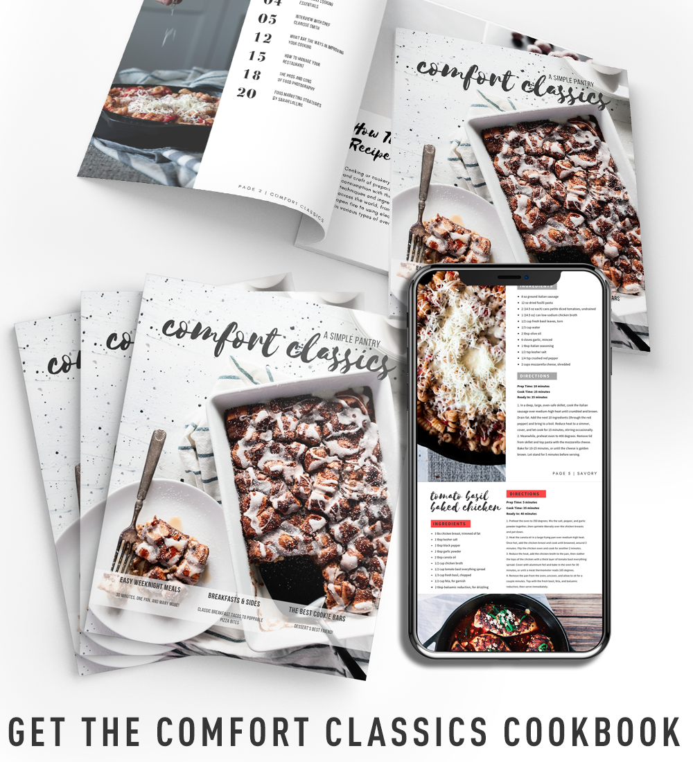 digital magazines and phone with cookbook viewing
